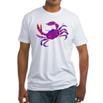Cancer Crab Art Fitted T-Shirt