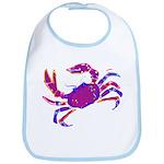 Cancer Crab Art Bib