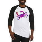 Cancer Crab Art Baseball Jersey