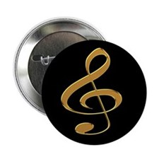 Gold Treble Clef Button
