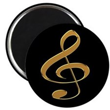 Gold Treble Clef Magnet