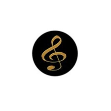 Gold Treble Clef Mini Button (10 pack)