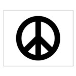Black Peace Sign Small Poster