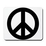 Black Peace Sign Mousepad