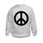 Black Peace Sign Kids Sweatshirt