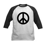 Black Peace Sign Kids Baseball Jersey