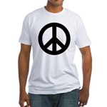 Black Peace Sign Fitted T-Shirt