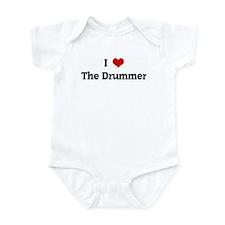 I Love The Drummer Infant Bodysuit