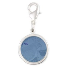 Birds of Prey 2010 Silver Round Charm