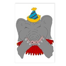 Sneezing Circus Elephant Postcards (Package of 8)