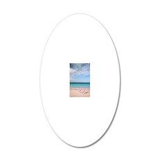 Mexico, Cancun Beach, Beach  20x12 Oval Wall Decal