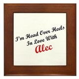 In Love with Alec Framed Tile