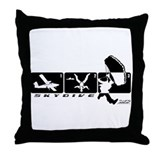 Jump Stages Skydiving Throw Pillow