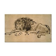 Rembrandt Lion Rectangle Car Magnet