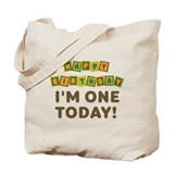 I'm One Today Birthday Tote Bag