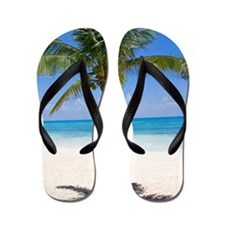 Bahamas Palm Flip Flops