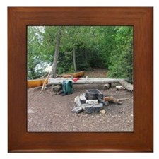 Boundary Waters Campsite Framed Tile