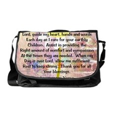 Nurse prayer blanket PINK Messenger Bag