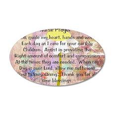 Nurse prayer blanket PINK 35x21 Oval Wall Decal