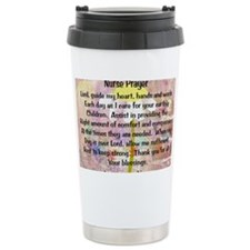 Nurse prayer blanket PINK Ceramic Travel Mug