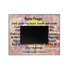 Nurse prayer blanket PINK Picture Frame