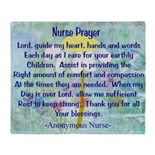 Nurse prayer blanket BLUE Throw Blanket