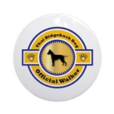 Ridgeback Walker Ornament (Round)
