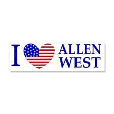 I Love Allen West Car Magnet 10 x 3