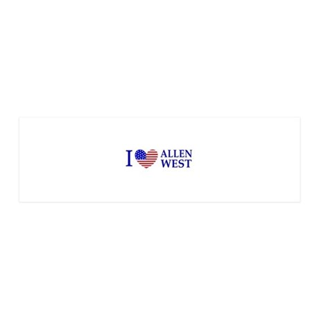 I Love Allen West 36x11 Wall Decal