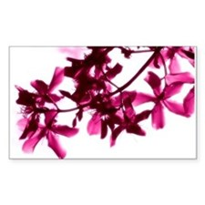 Purple flower Rectangle Decal