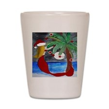 Santa Mermaid Trim a tree Shot Glass