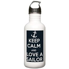 Keep Clam and Love a S Water Bottle