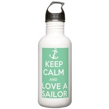 Keep Calm and Love a S Water Bottle