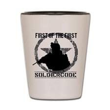 Soldier Code First of the First Shot Glass