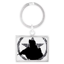 Soldier Code First of the First Landscape Keychain