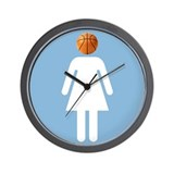 """UNC B-Ball Girl"" Wall Clock"
