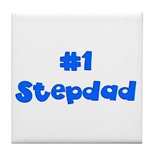 #1 Stepdad Tile Coaster