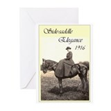 SideSaddle Elegance 1916 Greeting Cards (Package o