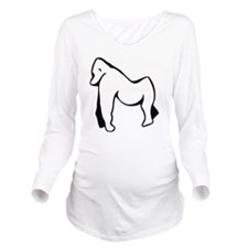 0049_Monkey53.gif Long Sleeve Maternity T-Shirt