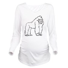 0048_Monkey52.gif Long Sleeve Maternity T-Shirt