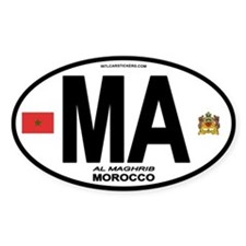 Morocco Euro-style Country Code Oval Decal