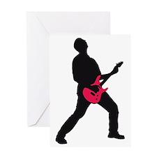 e-guitar rocker Greeting Card