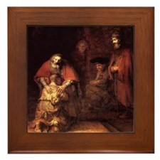 Rembrandt Return Of The Prodi Framed Tile