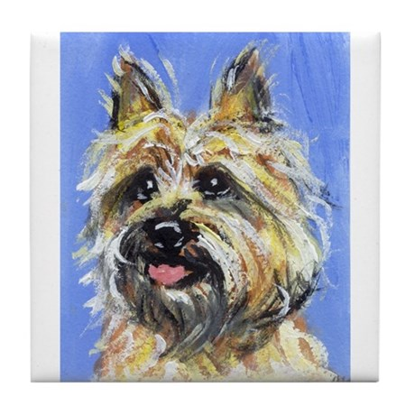 Cairn Portrait Tile Coaster