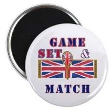 great britain tennis game set match Magnet