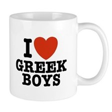 I Love Greek Boys Mug