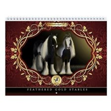 Feathered Gold Gypsy Horses Monthly Calendar #1