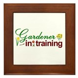 Gardener in Training Framed Tile