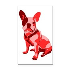 Bulldog Retro Dog Rectangle Car Magnet