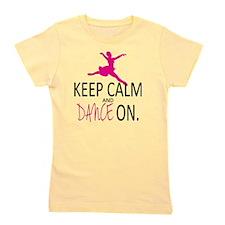 Keep Calm and Dance On Girl's Tee